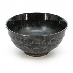 bol de riz traditionnel japonais KURO SHINJU