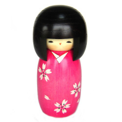 poupée japonaise Kokeshi Doll en bois SAKURA