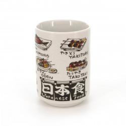 tasse traditionnelle japonaise à thé avec dessins JAPANESE FOOD