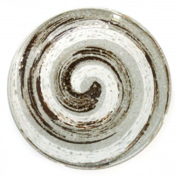 medium-sized round plate with whirlpool pattern white NARUTO