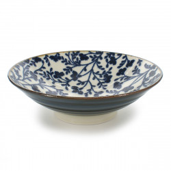 Japanese blue flower bowl