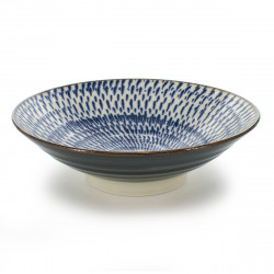 Japanese blue uzu bowl