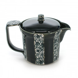 Japanese traditional colour green teapot in ceramic ORIBE TOKUSA