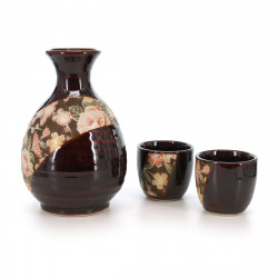 Japanese Sake Set 2 glasses and 1 bottle 17MYA4071324E